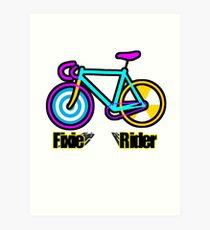 Fixie Rider Art Print