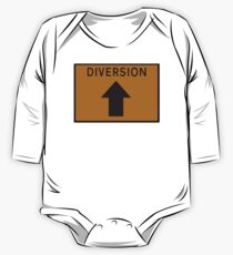Diversion above road sign One Piece - Long Sleeve