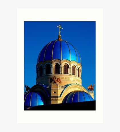 """Temples - """"Holy Trinity Cathedral (RU)"""" Art Print"""
