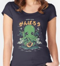 Good Luck Cthulhu Fitted Scoop T-Shirt