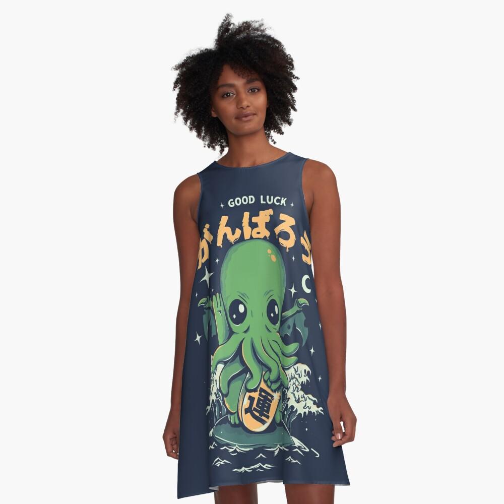 Good Luck Cthulhu A-Line Dress