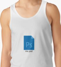 me.psd - Photoshop File Design Tank Top