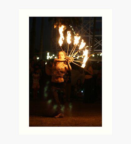 Fire dance 1 Art Print