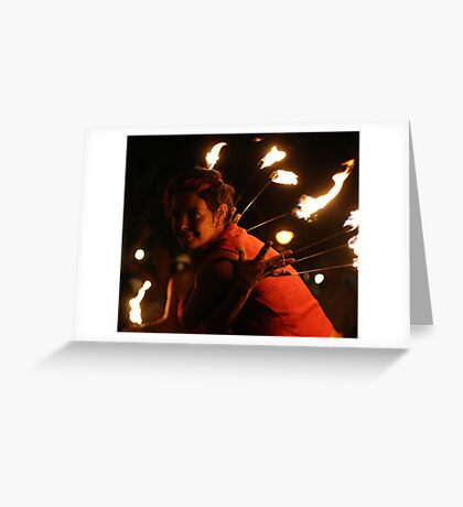 Fire dance 4 Greeting Card