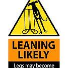 Leaning hazard sign by RichSkipworth