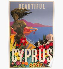 "Vintage travel poster ""Cyprus"" ⛔ HQ quality Poster"