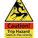 Trip hazard hazard sign by RichSkipworth
