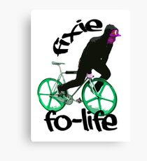 Fixie for life Canvas Print