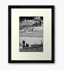 The big boys Framed Print