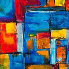 Acrylic and oil pastels expressionist pattern by Steve Johnson