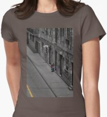 Visiting Neighbors In Cuenca Ecuador Womens Fitted T-Shirt