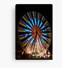 Ferris Wheel lights. Canvas Print