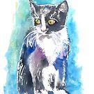 Blue Kitten by Emma Kaufmann
