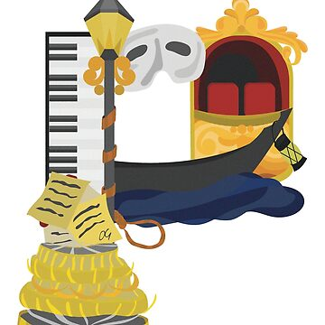 P is for Phantom of the Opera by Musicalligraphy
