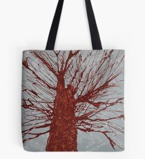 Copper Tree original painting Tote Bag