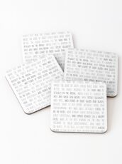 Daring Greatly Roosevelt Quote Coasters
