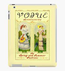 VOGUE : Vintage 1910 Fashion Magazine Advertising Print iPad Case/Skin