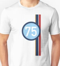 '75' Racing number with RAF roundel colour stripes T-Shirt