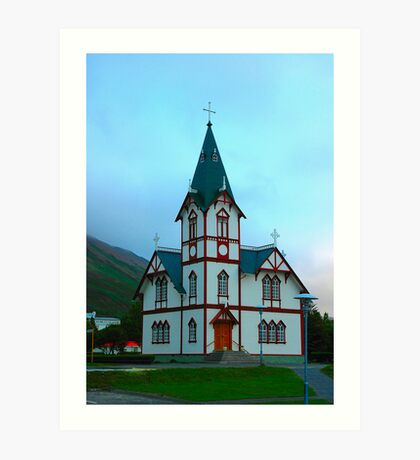 "Temples - ""The Church of Husavik (IS)"" Art Print"