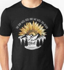 The Sun Will Rise And We Will Try Again Camping Hiking T-shirt Slim Fit T-Shirt