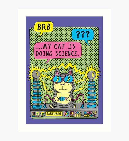 Cat Science Lámina artística