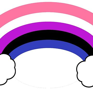 Genderfluid Rainbow Pride Design by Swifty118247