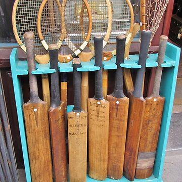 Bats and rackets on Portobella Road by AnnaMyerscough