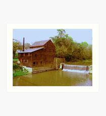 Pine Creek Grist Mill, Muskatine Iowa Art Print