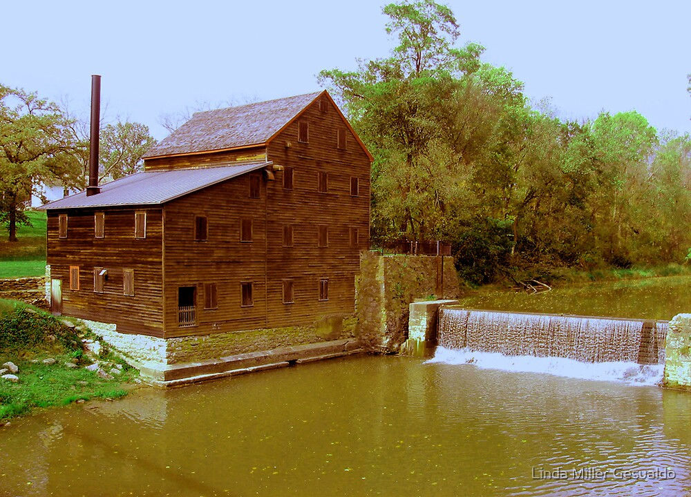 Pine Creek Grist Mill, Muskatine Iowa by Linda Miller Gesualdo