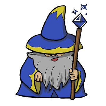 blue wizard cartoon classic t shirt by tysonlafollette redbubble