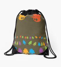 Birds, chatting and chatting and chatting and chatting and chatting and chatting Drawstring Bag
