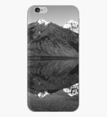 Mirror Reflection in Lake McDonald ~ Black & White iPhone Case
