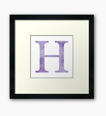 Grape Watercolor Η Framed Print