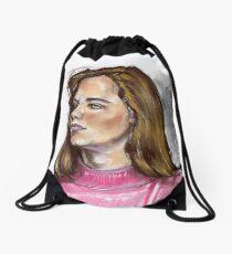 Pink Turtle Drawstring Bag