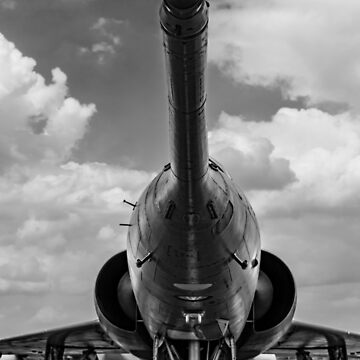 Mirage jet aircraft nose  Monochrome by capney