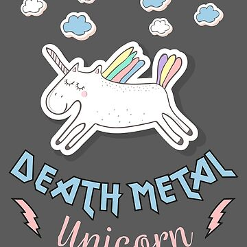 Death Metal Unicorn by NinjaDesignInc