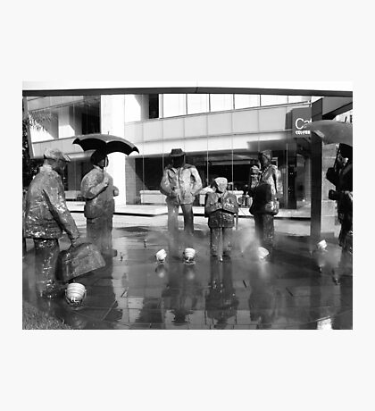 Rainy statues Photographic Print