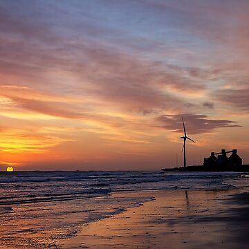 North Sea sunrise by Violaman