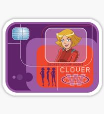 Totally spies Clover badge Sticker