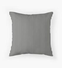 Black and White Pinstripe Throw Pillow