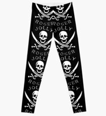 jolly roger pattern design Leggings