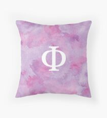 Lilac Watercolor Φ Throw Pillow