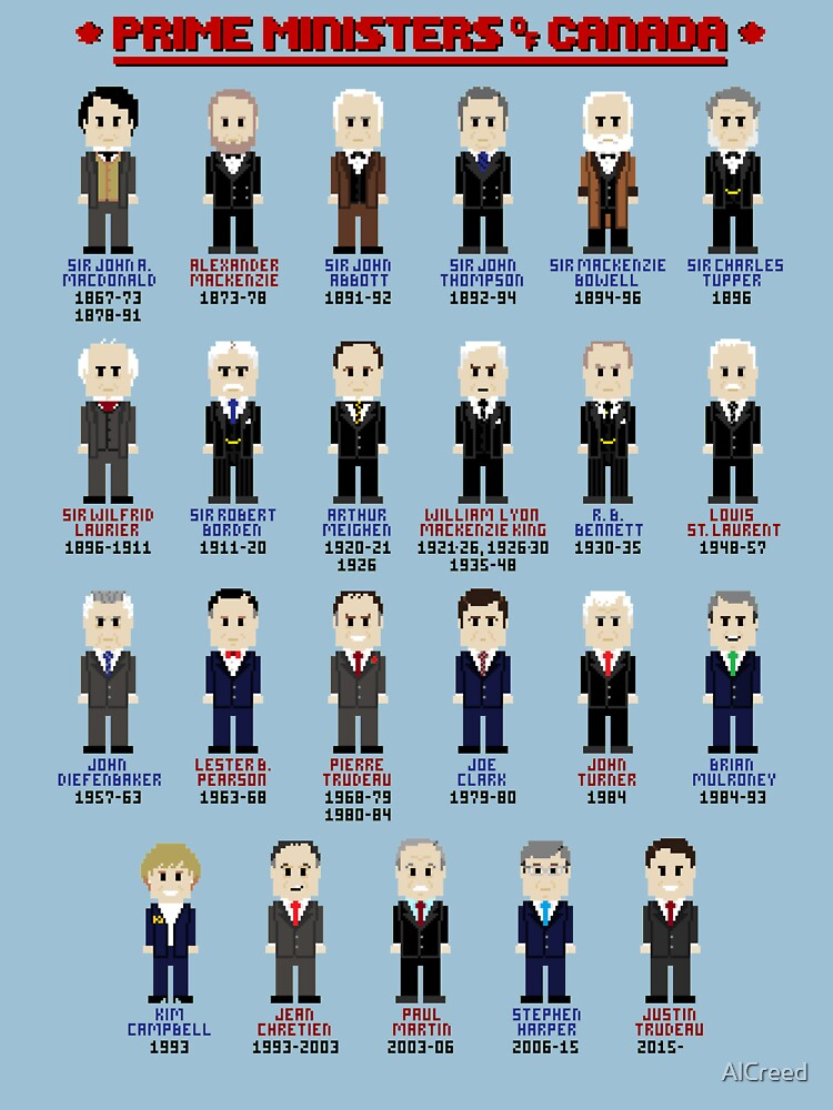 8-Bit Prime Ministers of Canada! by AlCreed