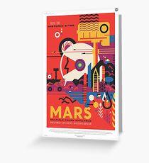 NASA Tourism - Mars Greeting Card
