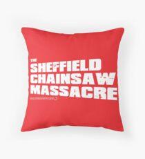 Sheffield Chainsaw Massacre Throw Pillow