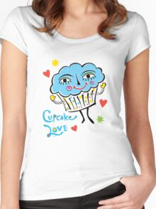 Cupcake Love Women's Fitted Scoop T-Shirt