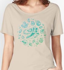 Geo-rex Vortex | Turquoise Ombré Women's Relaxed Fit T-Shirt