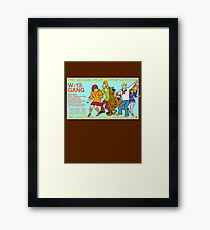 Warehouse 13 / Scooby Gang Framed Print