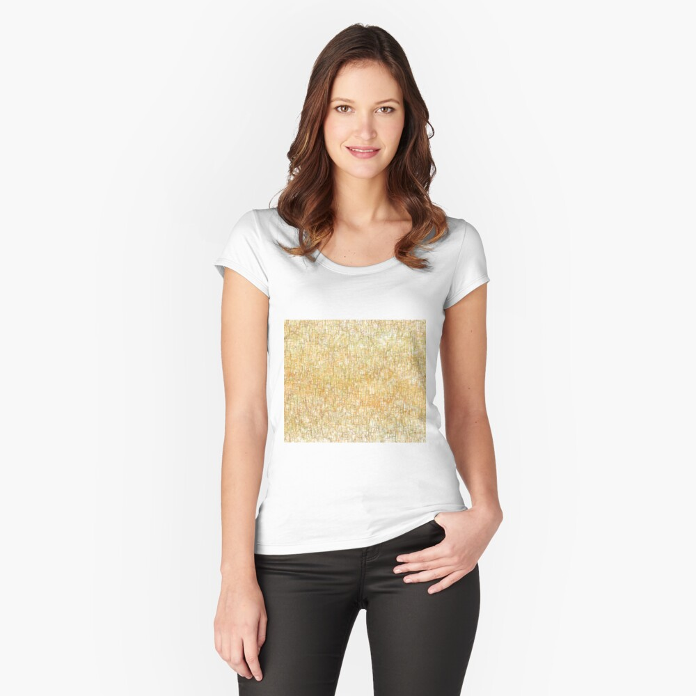 Squiggly Lines Fitted Scoop T-Shirt