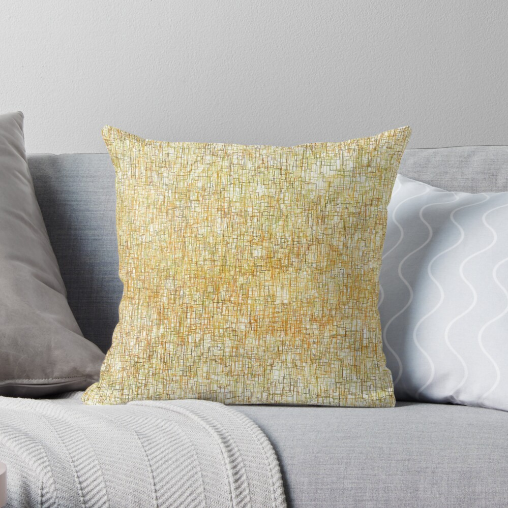 Squiggly Lines Throw Pillow